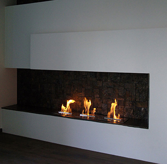 contemporary bio ethanol fireplace