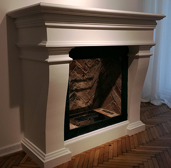 converted fireplace